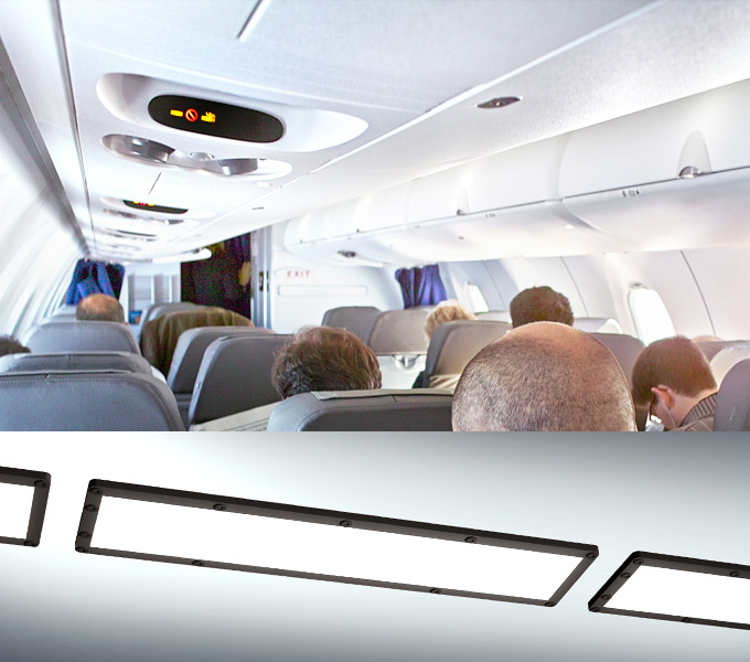 Custom Aircraft cabin illumination