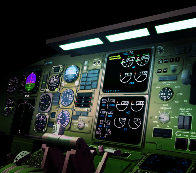 Custom Aircraft cockpit illumination